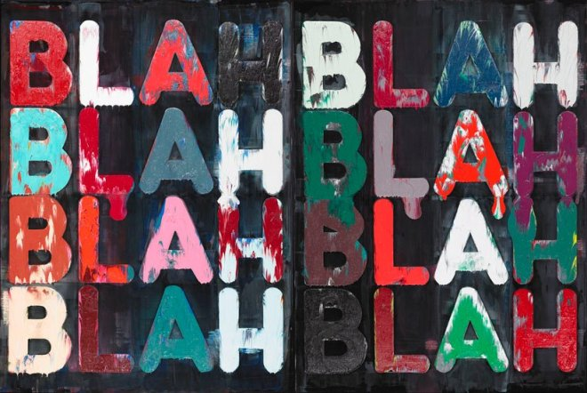 Artwork by Mel Bochner; photograph by Julien Foulatier.